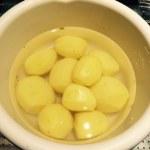 Geschälte Kartoffeln für Pommes